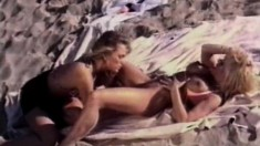 Two marvelous babes enjoy the pleasures of lesbian sex in the outdoors