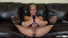 Phoenix Marie oils up her big titties and teases with her feet