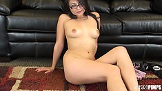 Sophia Jade gives hairy muffs a bad name with her nasty looking snatch