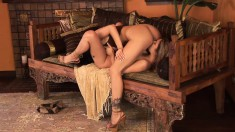 Lustful Mikayla engages in lesbian action and enjoys intense pleasure