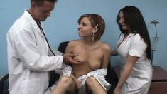 Dr Appointment Turns Into Bent Cock Sucking And Hard Pussy Pounding
