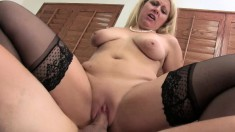 Blonde MILF Zoey Tyler loves to eat cock, get slammed and drink cum
