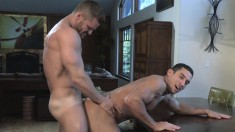 Attractive boy takes a large dick up his ass and screams with pleasure