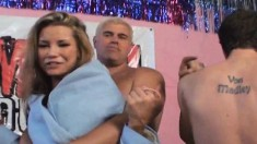 Charming blonde with a perfect ass Tanner Mayes has sex with Chadley