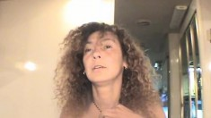 Luscious Latina with curly hair and saggy tits Gigi loves to suck dick