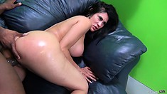 Ebony lover pushes his tongue further into Shelia Marie's cunt