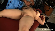 Curvy brunette Twilight Starr seduces her black trainer and he fucks her needy cunt