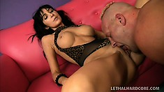 Naughty MILF Diana Prince gets her freak on in a skimpy outfit