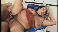 Different clips with mature ladies and their huge tits getting hammered