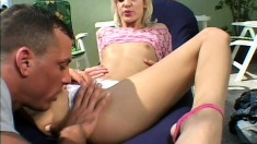 Tight blonde chick needs to have her sweet asshole broken in