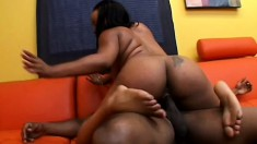 Stacked caramel hottie Stacie Lane gets fucked deep and rough by a black stud