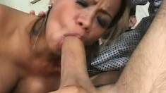 Bodacious Asian MILF gets ravaged by a white monster schlong