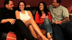 Swinging babes Gianna and Frankie test out each other's husbands