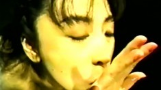 Nasty Oriental chick can't get enough semen flowing down her throat
