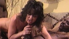 Tiffany Storm gets into a naughty interracial threesome with two dudes
