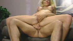Insatiable blonde Kim Kitaine seduces two studs to fulfill a fantasy