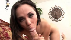 Kristina is an expert in the fine arts of blowing and fucking a cock