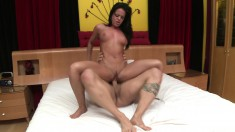 Rahyndee James has one sexy ass and they do oral before she gets banged
