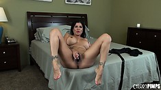 Stacked Brunette Alexis Amore Shows Off Her Divine Curvy Body And Her Kinky Side
