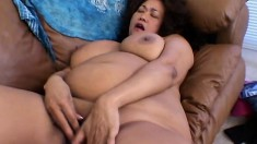 Two chubby girls indulge in an intense interracial lesbian experience