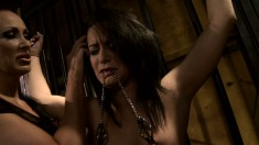 Exciting brunette with a perky ass has a passion for pain and pleasure