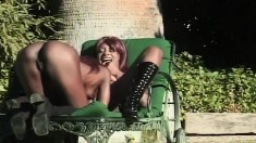 Sultry black girl with a lovely ass Mocha enjoys some hot lesbian sex