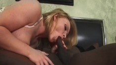 Krissy Lynn uses the art of seduction to get drilled by a black stud