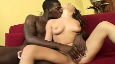 Sultry Sierra Snow fucks a massive black dick like only she knows how