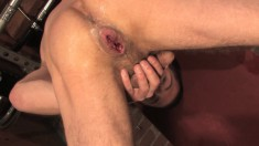 Beautiful and horny guy invites his boyfriend to fist his aching ass