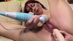 Petite redhead Zoe Voss fucks a big dick and brings herself to orgasm