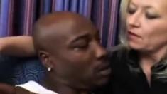 Sexy mature amateur wife interracial gangbang facials