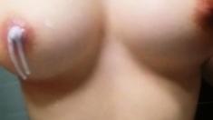 Korean girl shows her big boobs on webcam