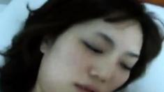 Hot beautiful korean wife blow job