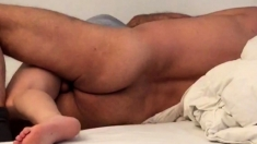 Homemade Anal : cute babe wakes up with Anal