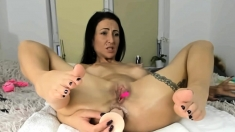 Hot Milf Double Penetration Masturbation