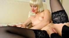 Blonde Mature Play With Her Shoe
