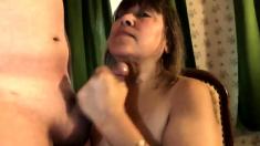 Mature Asian Blowjob & Cum