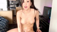 Solo hot Asian amateur masturbation session