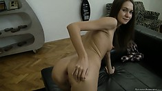 Another edition to Rocco's POV library with a naughty brunette getting analized