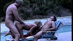 Cock-hungry Stephanie DuValle gets satisfied by two monster peckers