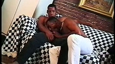 Two black guys fucking each other means double the humongous cocks