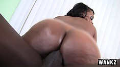 His monster black snake gets buried alive in Samone Taylor's tight twat