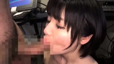 Amateur Asian Lady blowjobs and jerking