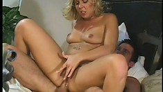 Terrific blonde courtesan likes being the object of someone's sexual fantasies
