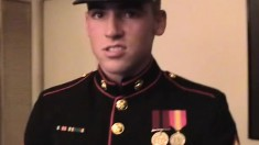 Strict dude in uniform wants to have his dick sucked and fucked