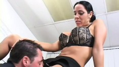 Busty Veronica Rayne's dripping wet pussy takes a hard pounding