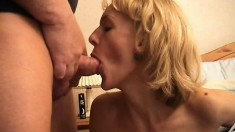 Fit Blond MILF Pounded In Her Fuck Hole