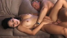 Bisexual babes Summer Nite and Dani Woodward share Dick Nasty